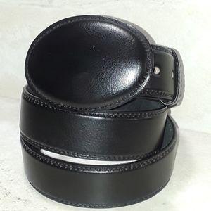 Men's Da Cuir black leather belt size 42